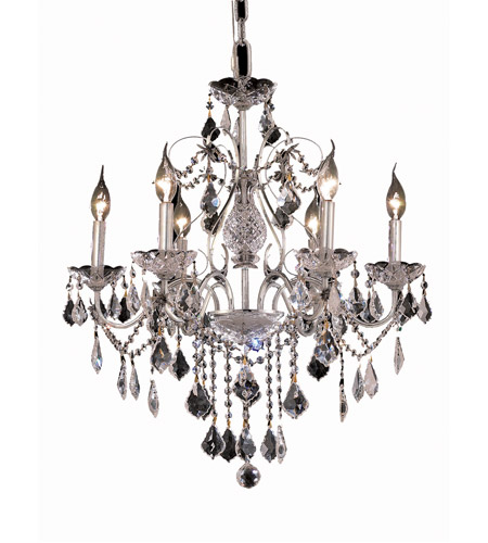 Elegant Lighting 2015D24C/SA St. Francis 6 Light 24 inch Chrome Dining Chandelier Ceiling Light in Spectra Swarovski photo