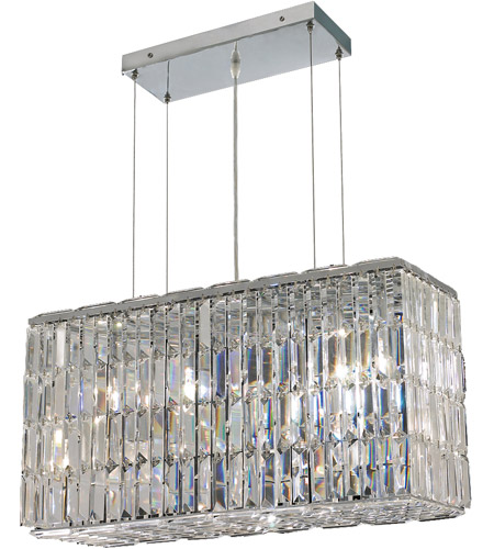 Elegant Lighting Maxim 8 Light Dining Chandelier in Chrome with Swarovski Strass Clear Crystal 2018D26C/SS photo