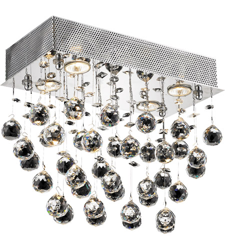 Elegant Lighting Galaxy 4 Light Flush Mount in Chrome with Royal Cut Clear Crystals 2021F16C/RC(LED) photo
