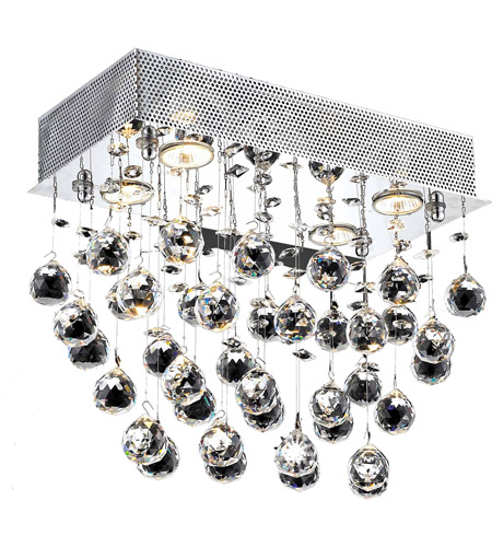 Elegant Lighting 2021F20C/SA(LED) Galaxy 6 Light 12 inch Chrome Flush Mount Ceiling Light in Spectra Swarovski photo