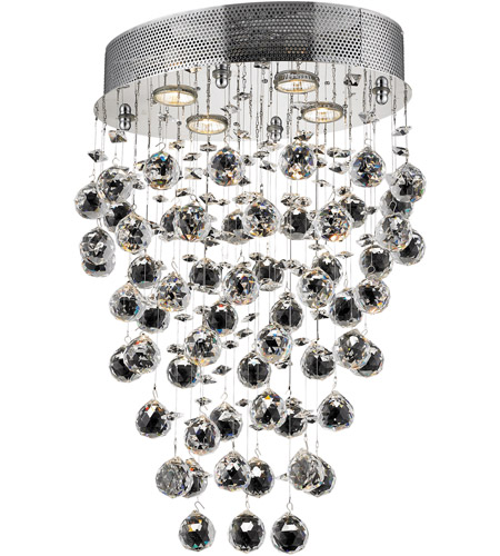 Elegant Lighting Galaxy 4 Light Dining Chandelier in Chrome with Elegant Cut Clear Crystal 2022D16C/EC photo