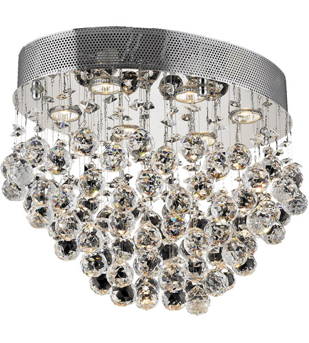 Elegant Lighting 2022F20C/SA Galaxy 6 Light 14 inch Chrome Flush Mount Ceiling Light in Spectra Swarovski photo