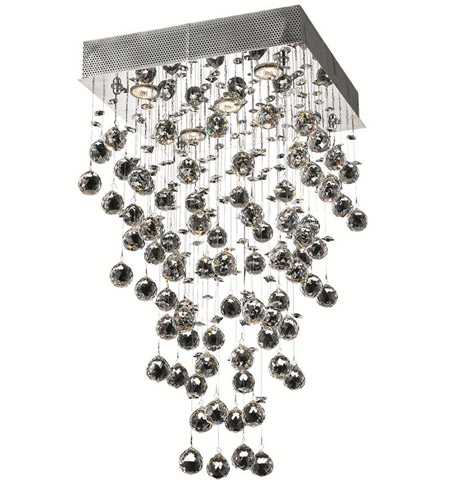 Elegant Lighting Galaxy 5 Light Dining Chandelier in Chrome with Royal Cut Clear Crystal 2023D16C/RC photo