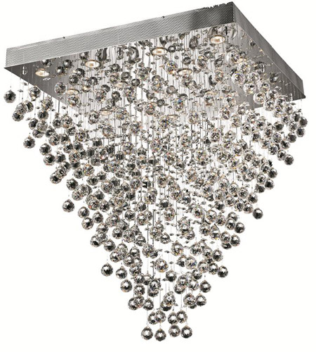 Elegant Lighting Galaxy 16 Light Dining Chandelier in Chrome with Spectra Swarovski Clear Crystal 2023D32C/SA photo