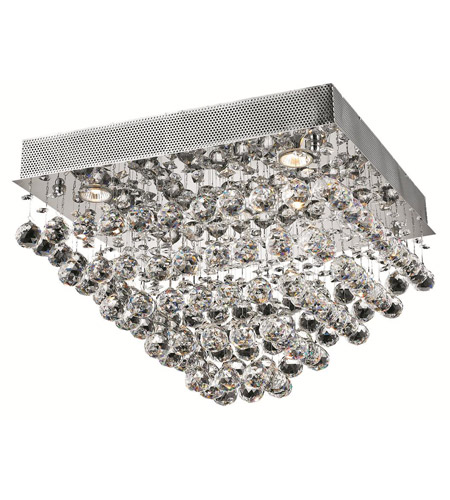 Elegant Lighting Galaxy 5 Light Flush Mount in Chrome with Royal Cut Clear Crystal 2023F20C/RC photo
