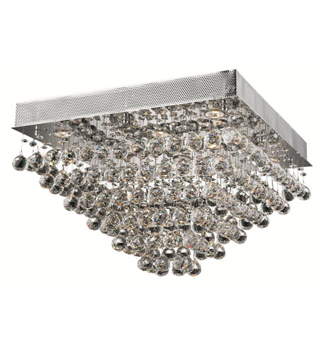 Elegant Lighting Galaxy 8 Light Flush Mount in Chrome with Royal Cut Clear Crystal 2023F24C/RC photo