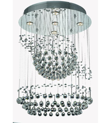 Elegant Lighting Galaxy 7 Light Chandelier in Chrome with Strass Swarovski Clear Crystals 2026D26C/SS photo