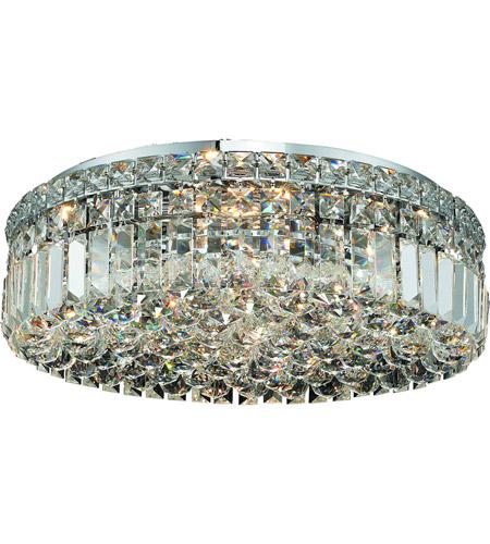 Elegant lighting v2030f20css maxime 6 light 20 inch chrome flush elegant lighting v2030f20css maxime 6 light 20 inch chrome flush mount ceiling light in swarovski strass aloadofball Images