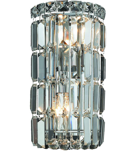 Elegant Lighting V2030W6C/RC Maxime 2 Light 6 Inch Chrome Wall Sconce Wall  Light In Royal Cut