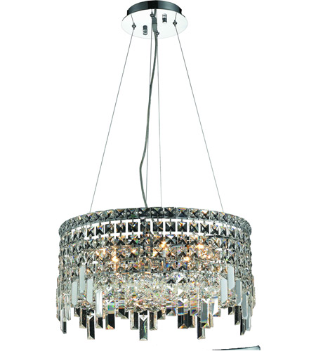 Elegant Lighting Maxim 12 Light Dining Chandelier in Chrome with Royal Cut Clear Crystal 2031D20C/RC photo