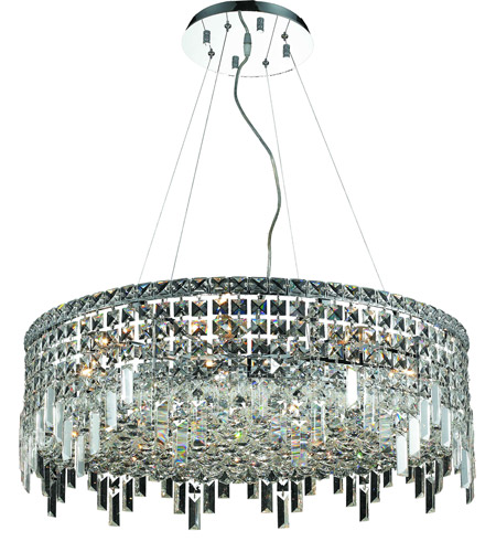Elegant Lighting V2031D28C/RC Maxim 12 Light 28 inch Chrome Dining Chandelier Ceiling Light in Royal Cut photo
