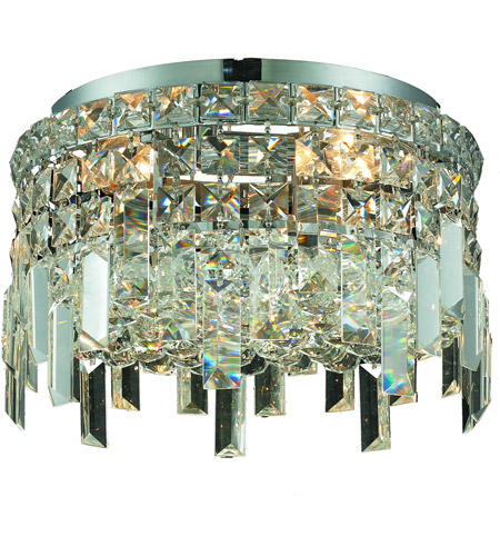 Elegant Lighting V2031F12C/RC Maxim 4 Light 12 inch Chrome Flush Mount Ceiling Light in Royal Cut photo