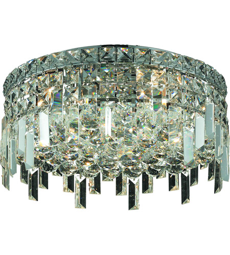 Elegant Lighting Maxim 5 Light Flush Mount in Chrome with Swarovski Strass Clear Crystal 2031F16C/SS photo