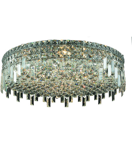 Elegant Lighting Maxim 9 Light Flush Mount in Chrome with Spectra Swarovski Clear Crystal 2031F24C/SA photo