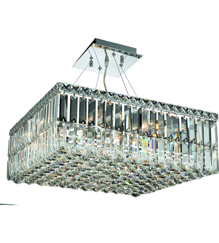 Elegant Lighting V2032D20C/SS Maxim 12 Light 20 inch Chrome Dining Chandelier Ceiling Light in Swarovski Strass photo