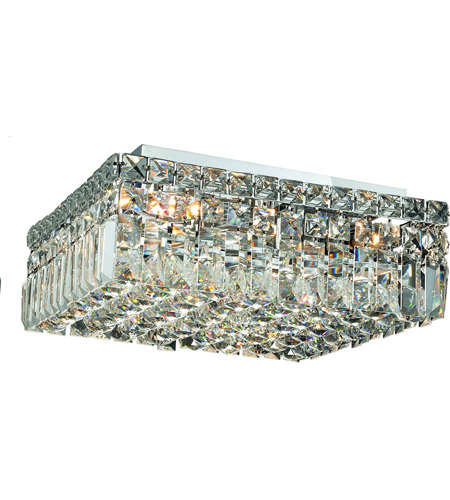 Elegant Lighting Maxim 5 Light Flush Mount in Chrome with Spectra Swarovski Clear Crystal 2032F14C/SA photo