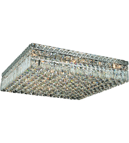 Elegant Lighting Maxim 13 Light Flush Mount in Chrome with Royal Cut Clear Crystal 2032F24C/RC photo