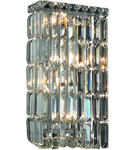 Elegant Lighting V2032W8C/EC Maxime 4 Light 8 inch Chrome Wall Sconce Wall Light in Elegant Cut photo