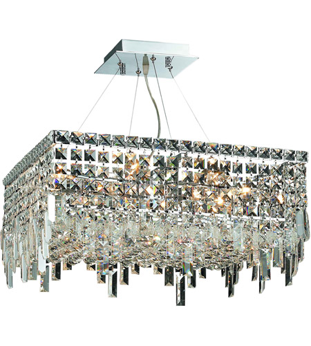 Elegant Lighting Maxim 12 Light Dining Chandelier in Chrome with Swarovski Strass Clear Crystal 2033D20C/SS photo