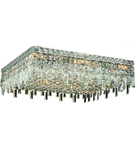 Elegant Lighting 2033F24C/SA Maxim 13 Light 24 inch Chrome Flush Mount Ceiling Light in Spectra Swarovski photo
