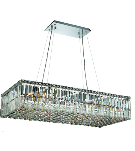 Elegant Lighting Maxim 16 Light Dining Chandelier in Chrome with Spectra Swarovski Clear Crystal 2034D36C/SA photo