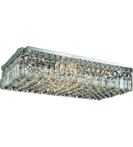 Elegant Lighting Maxim 6 Light Flush Mount in Chrome with Swarovski Strass Clear Crystal 2034F24C/SS photo