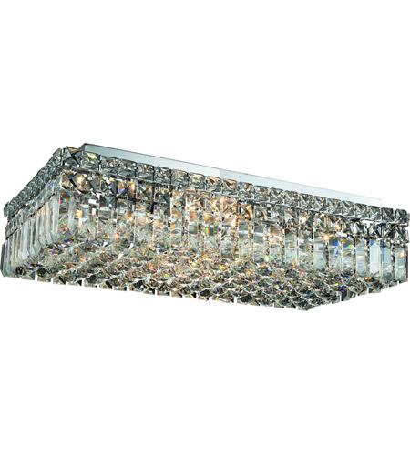 Elegant Lighting Maxim 6 Light Flush Mount in Chrome with Swarovski Strass Clear Crystal 2034F24C/SS photo
