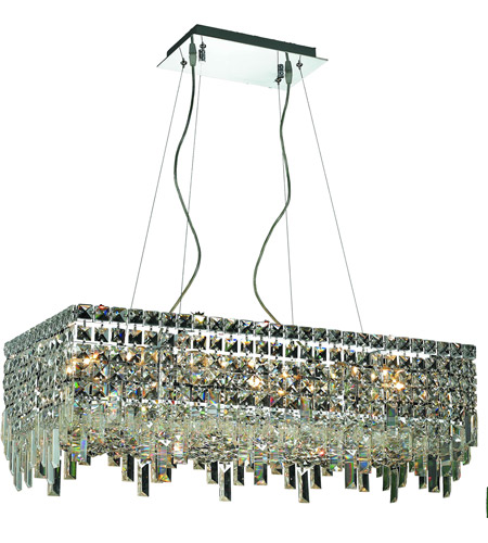 Elegant Lighting Maxim 16 Light Dining Chandelier in Chrome with Swarovski Strass Clear Crystal 2035D28C/SS photo