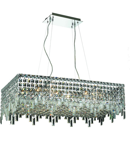 Elegant Lighting Maxim 16 Light Dining Chandelier in Chrome with Swarovski Strass Clear Crystal 2035D32C/SS photo
