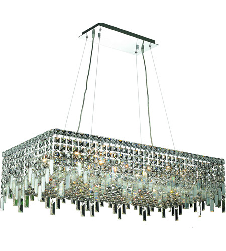 Elegant Lighting Maxim 16 Light Dining Chandelier in Chrome with Swarovski Strass Clear Crystal 2035D36C/SS photo