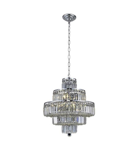 Elegant Lighting V2038D20C/SA Maxime 13 Light 20 inch Chrome Dining Chandelier Ceiling Light in Clear, Spectra Swarovski alternative photo thumbnail