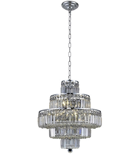 Elegant Lighting 2038D20C/RC Maxim 13 Light 20 inch Chrome Dining Chandelier Ceiling Light in Clear, Royal Cut photo