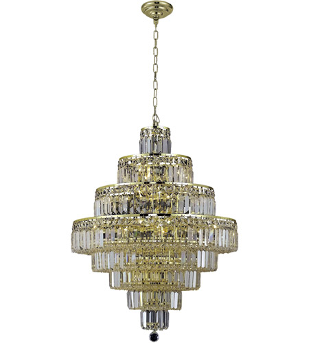 Elegant Lighting V2038D26G/RC Maxime 18 Light 26 inch Gold Dining Chandelier Ceiling Light in Clear, Royal Cut photo thumbnail
