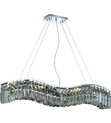 Elegant Lighting Contour 6 Light Dining Chandelier in Chrome with Spectra Swarovski Clear Crystal 2040D30C/SA photo