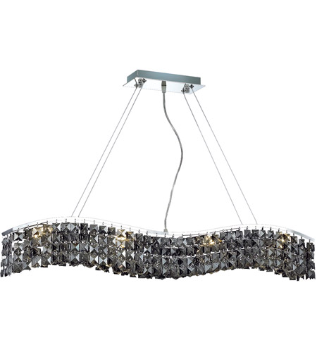 Elegant Lighting Contour 8 Light Dining Chandelier in Chrome with Royal Cut Silver Shade Crystal 2041D36C-SS/RC photo
