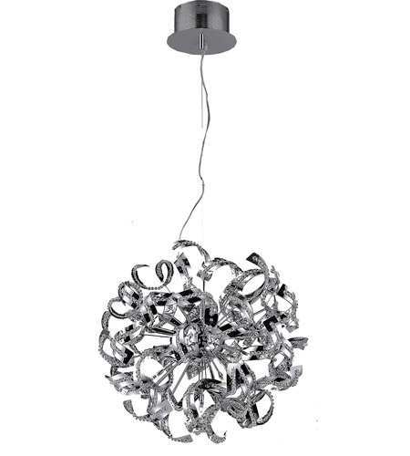 Elegant Lighting Tiffany 9 Light Chandelier in Chrome with Royal Cut Clear Crystals 2068D19C/RC photo