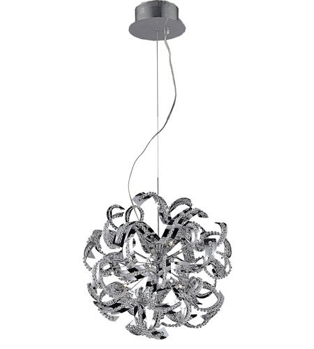 Elegant Lighting Tiffany 13 Light Chandelier in Chrome with Royal Cut Clear Crystals 2068D22C/RC photo
