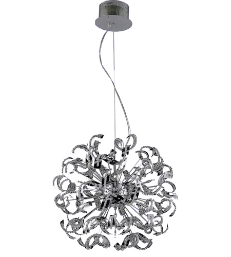 Elegant Lighting 2068D27C/RC Tiffany 25 Light 28 inch Chrome Chandelier Ceiling Light in Royal Cut photo