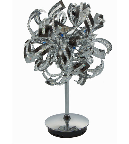 Elegant Lighting Tiffany 6 Light Table Lamp in Chrome with Royal Cut Clear Crystals 2068TL12C/RC photo