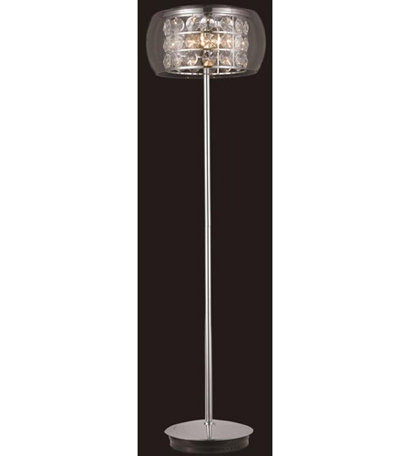 Elegant Lighting Apollo 7 Light Floor Lamp in Chrome with Elegant Cut Clear Crystal 2069FL16C/EC photo