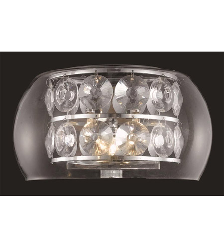 Elegant Lighting Apollo 3 Light Wall Sconce in Chrome with Elegant Cut Clear Crystal 2069W11C/EC photo
