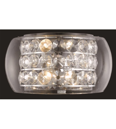 Elegant Lighting Apollo 4 Light Wall Sconce in Chrome with Elegant Cut Clear Crystal 2069W16C/EC photo