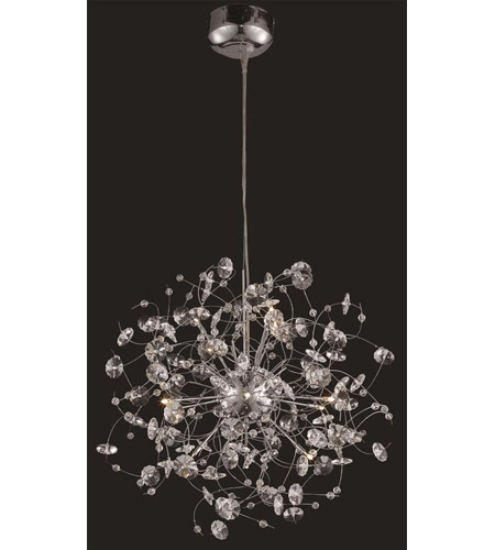Elegant Lighting Iris 12 Light Dining Chandelier in Chrome with Elegant Cut Clear Crystal 2071D24C/EC photo