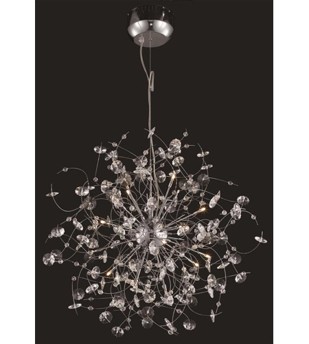 Elegant Lighting Iris 16 Light Dining Chandelier in Chrome with Elegant Cut Clear Crystal 2071D28C/EC photo