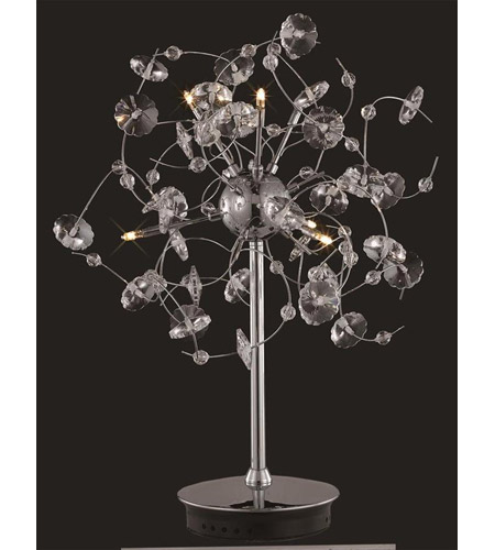 Elegant Lighting Iris 6 Light Table Lamp in Chrome with Elegant Cut Clear Crystal 2071TL16C/EC photo