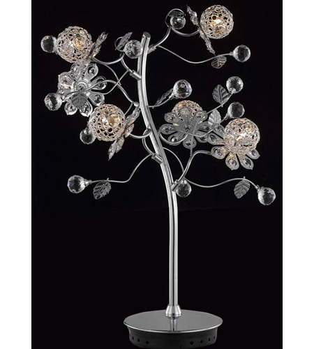 Elegant Lighting Iris 6 Light Table Lamp in Chrome with Elegant Cut Clear Crystal 2073TL18C/EC photo