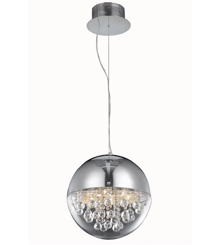 Elegant Lighting 2074D12C/RC Apollo 6 Light 13 inch Chrome Dining Chandelier Ceiling Light in Royal Cut photo