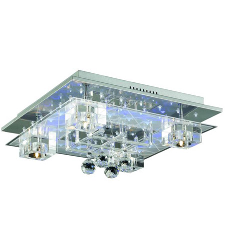 Elegant Lighting Karma 5 Light Flush Mount in Chrome with Elegant