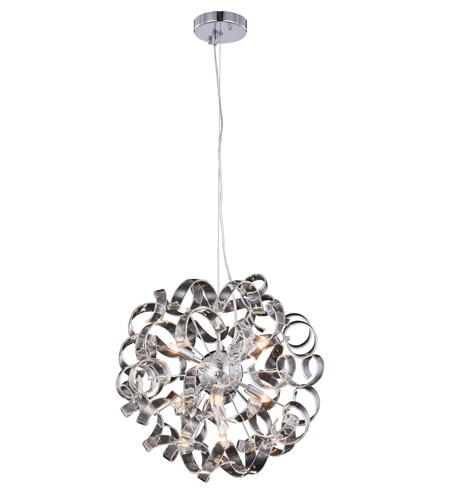 Elegant Lighting 2104D18C Ritz 7 Light 18 Inch Chrome Pendant Ceiling Light