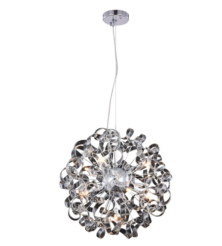 Elegant Lighting 2104D24C Ritz 9 Light 24 inch Chrome Pendant Ceiling Light photo thumbnail